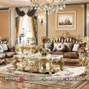 Jual Set Sofa Tamu Mewah Klasik Golden Ukiran Jepara MF3