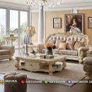 Jual Sofa Tamu Jepara Mewah Waldrof New 2021 Gold Ivory MF5