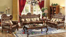 New Sofa Tamu Jepara Mewah Ukir Natural Luxury Caesar MF-2