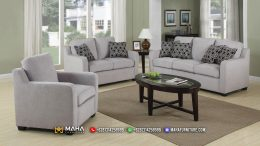 Baru Set Sofa Tamu Minimalis Exclusive Harbor Gray MF89