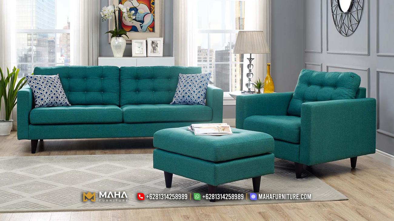 Best Produk Set Sofa Tamu Jepara Minimalis Model Elite MF42