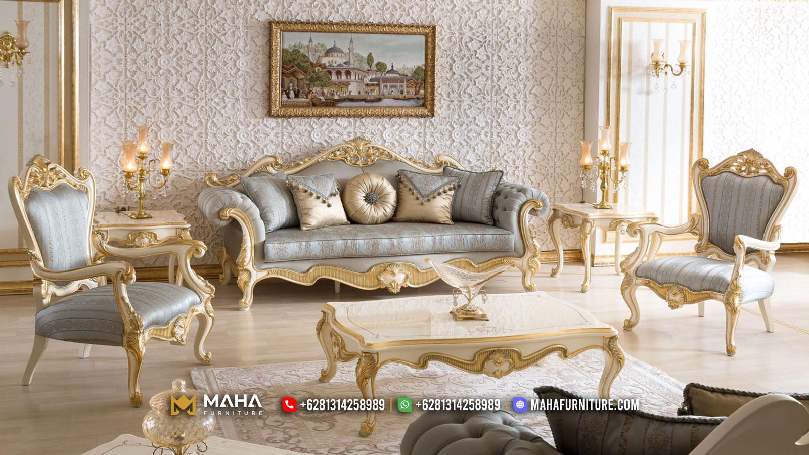 Best Seller Sofa Tamu Mewah Ukir Jepara Elegant Set Royals MF15