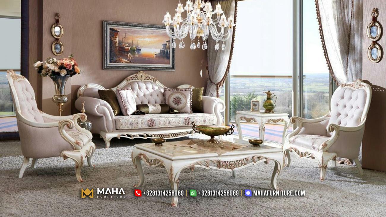 Best Seller Sofa Tamu Mewah Ukir Jepara Luxurious Victoria Empire Design MF36