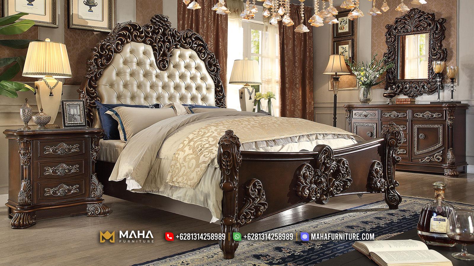 Bestseller Set kamar Ukiran Mewah Jepara Black Chocolate MF121
