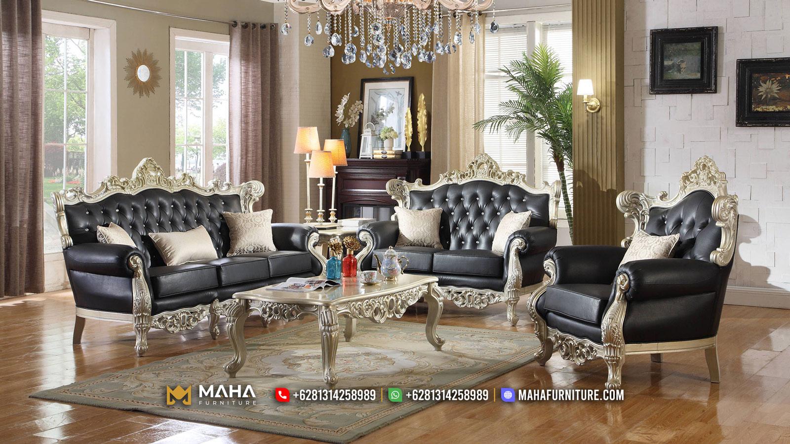 Classic Desain Sofa Tamu Mewah Ukiran Empire Best Style MF16