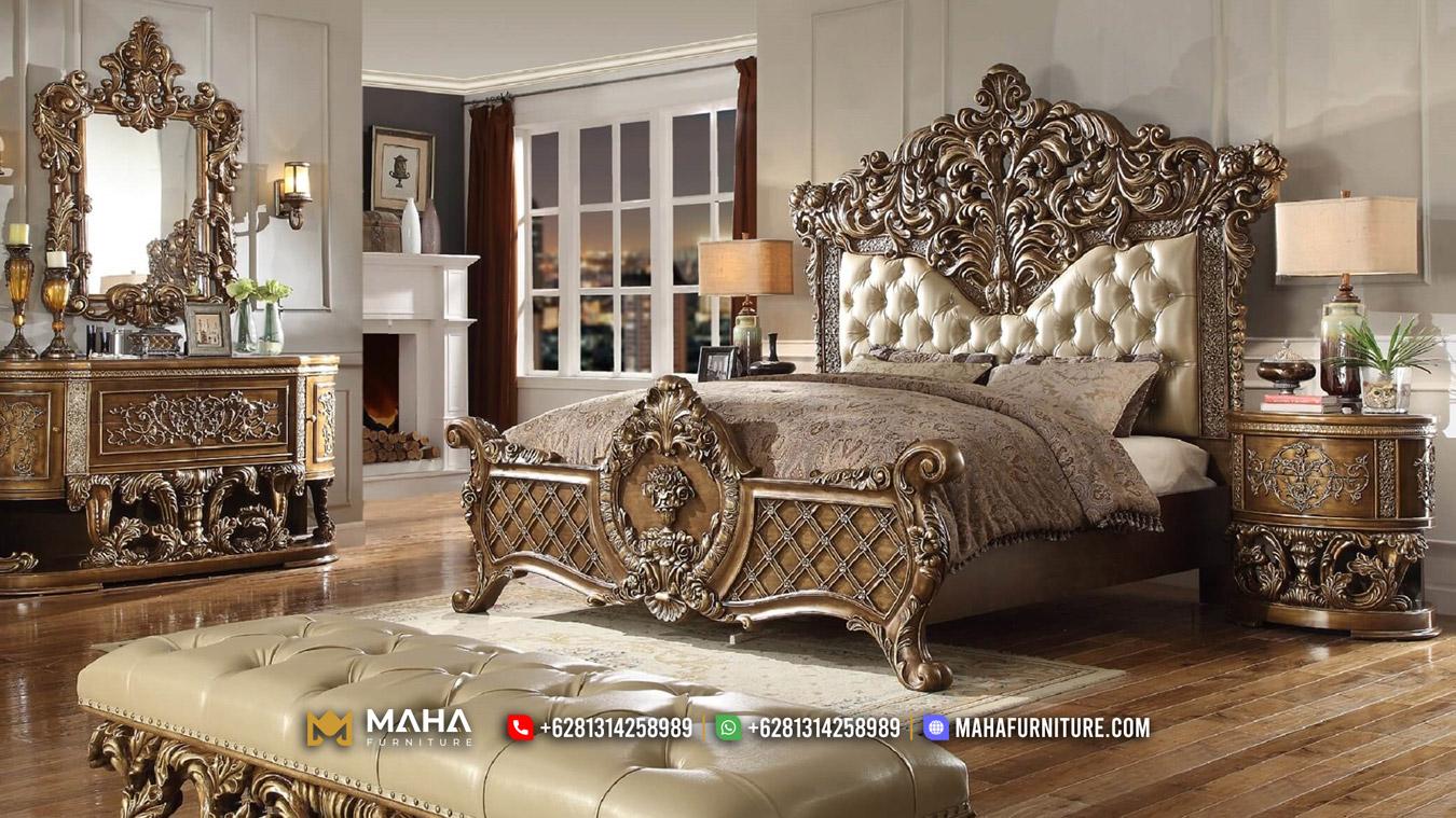 Desain Kamar Tidur Ukiran Jepara Luxurious MF117