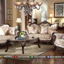 Desain Sofa Tamu Mewah Jepara Natural Jati Luxury Solid Wood Perhutani MF17