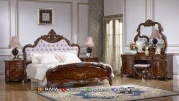 Desain Tempat Tidur Cantik Minimalis Jati Glossy Luxury MF197