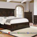 Desain Tempat Tidur Minimalis Jati Natural Jepara Special MF135