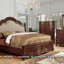 Dipan Tempat Tidur Minimalis Jati Natural Terbaru MF193