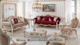 Elegant Set Sofa Tamu Jepara Luxury Carving Duco Color MF18