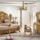 Harga Kamar Tidur Ukiran Mewah Jepara Glamorous Gold MF98