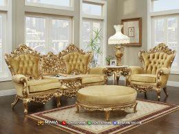 Harga Kursi Sofa Model Mewah Olimpos Gold MF78