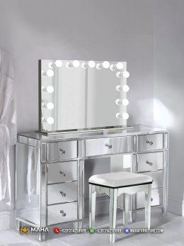 Harga Set Meja Rias Jepara Luxurious Silver Metalic MF183