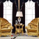 Harga Sofa Teras Jepara Terbaru Model Mewah Gold Luxurious MF82