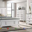 Harga Tempat Tidur Minimalis Lengkap Asli Jepara White Classic MF127