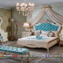 Jual 1 Set Tempat Tidur Mewah Beautiful Royal Blue MF110