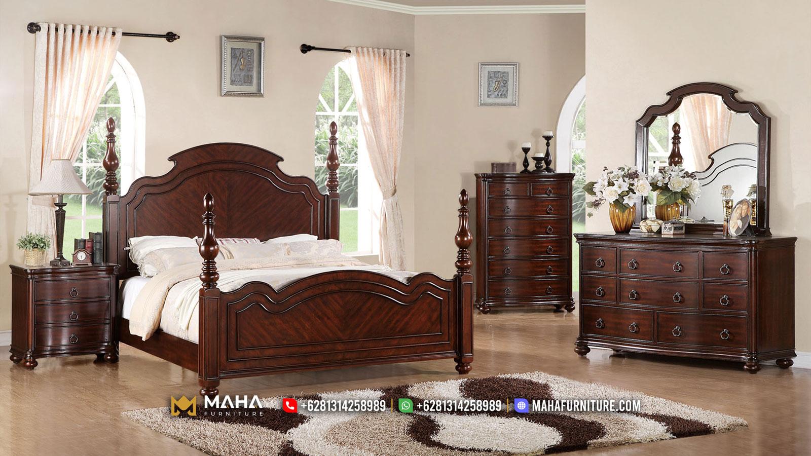 Jual Kamar Set Minimalis Jati Elegan Brown Natural MF126