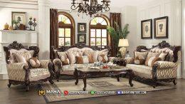 Jual Set Sofa Tamu 321 Model Ukir Klasik Brown MF60