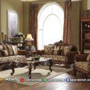 Jual Sofa Tamu Jepara Terbaru Luxurious Carving Set Natural Jati Perhutani MF13