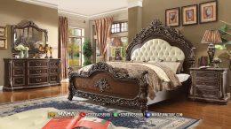 Jual Tempat Tidur Lengkap Ukiran Mewah Natural Brown MF123