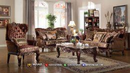 Loveseat Sofa Tamu Mewah Jati Natural Luxury Carving Jepara MF32