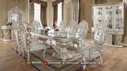 Model Meja Makan Mewah Klasik Eropa Ukiran Asli Jepara MF9