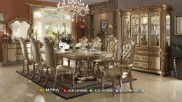 Model Meja Makan Mewah Klasik Ukiran Elegant Luxury MF228