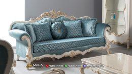 Model Sofa Tamu Mewah Ivory Beautiful Blue Jasmine MF214