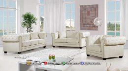 Model Sofa Tamu Minimalis White Luxurious Clear Daisy MF233