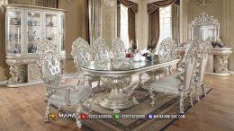 Model Terbaru Meja Makan Mewah Jepara Glamorous Silver Gulizar MF225