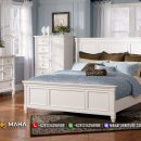 New Desain Kamar Set Minimalis Jepara White Exclusive MF130