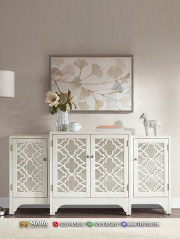 New Meja Konsol Minimalis Klasik Laci Ivory MF175