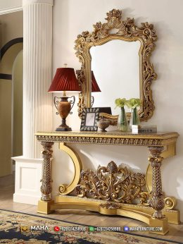 New Meja Konsol Ukiran Golden Luxury MF170