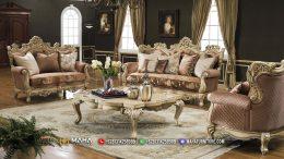 New Sofa Tamu Mewah Jepara Luxury White Doff Top Coat MF34