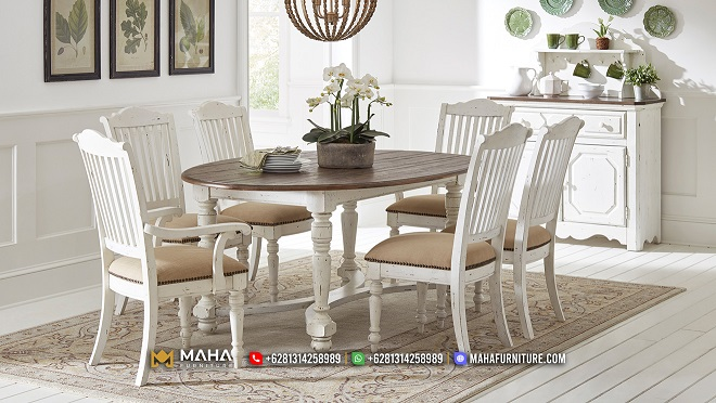 Set Meja Makan Minimalis Duco Natural Elegant MF215