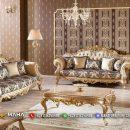 Satu Set Sofa Ruang Tamu Mewah Ukir Jepara Lunatic Blue MF55