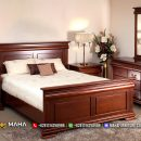 Set Kamar Tidur Minimalis Natural Jati Asli Jepara MF134
