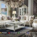 Set Kursi Sofa Tamu ukir Jepara Adellea klasik MF39