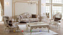 Set Kursi Tamu Sofa Mewah Jepara Fabric Luxurious MF71