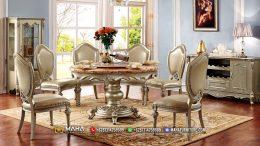 Set Meja Makan Jepara Elegant Model Duco Shinning MF220
