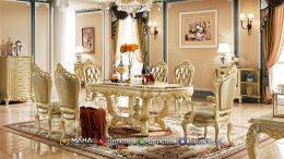 Set Meja Makan Mewah Jepara Luxury Golden MF226