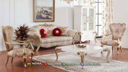 Set Sofa Mewah Jepara Beautiful Elegant Rosegold MF67