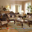 Set Sofa Tamu Jati Ukiran Klasik Jepara Brown Elegant MF239