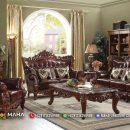 Set Sofa Tamu Jepara Ukir Klasik Brown Color Amazing Design MF57