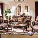 Set Sofa Tamu Mewah Jati Natural Classic Color Great Salak Brown MF10