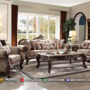 Set Sofa Tamu Mewah, Kursi Ruang Tamu Luxury, Harga Sofa Tamu Jati Natural Salak MF30