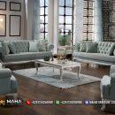 Set Sofa Ukir Minimalis Mewah Jepara Pistachio Luxurious MF96