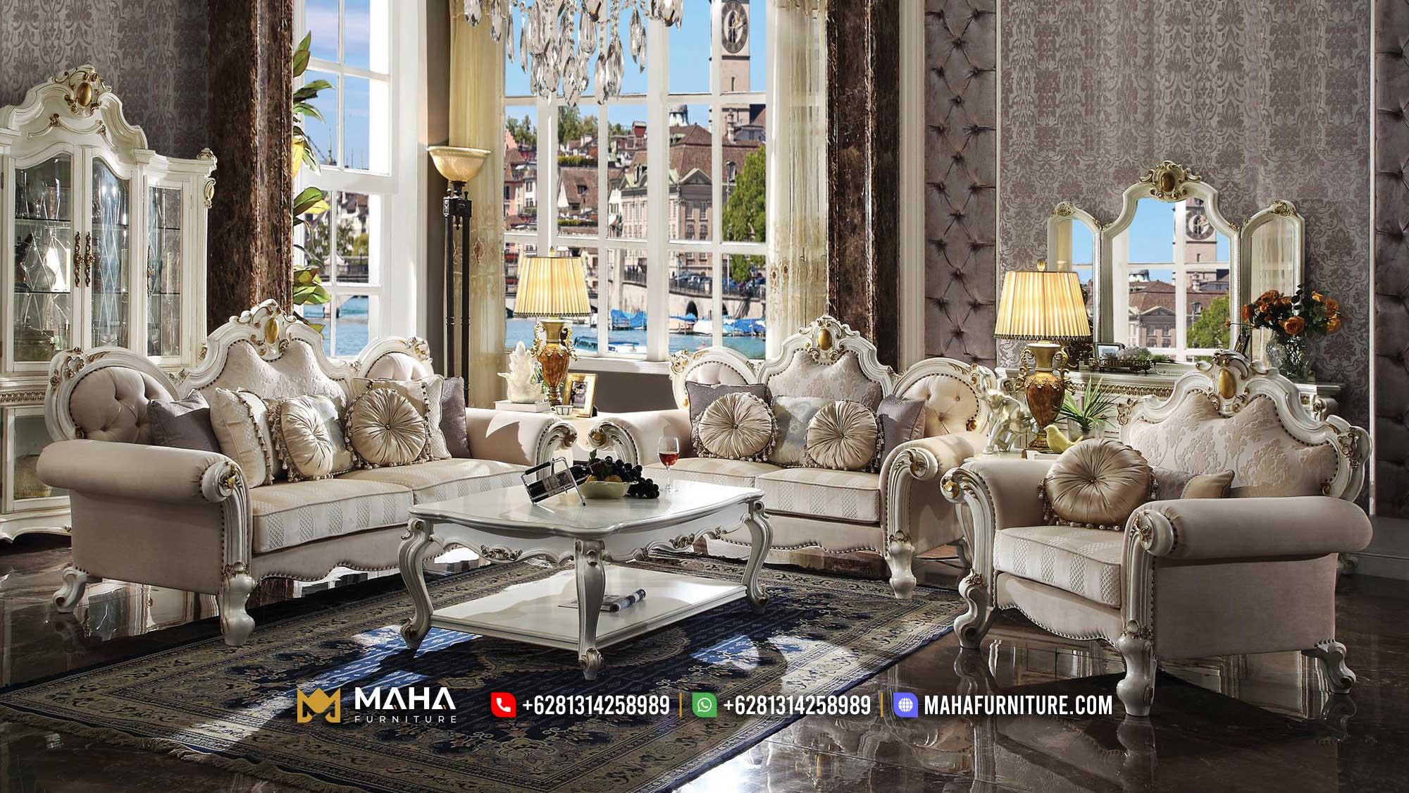 Set Sofa Ukiran Jepara Terbaru Klasik Perfect Model MF56
