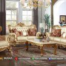 Sofa Mewah Ukir Set 3 2 1 Luxurious Golden MF62